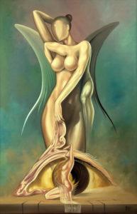 Angel downfall - Surreal art