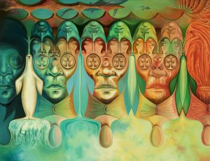 Searching for Myself - Surreal art - Surreal paintings - Illusions in art - Illusions in paintings